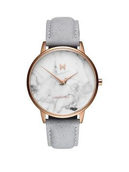 MVMT Mvmt Mvmt Boulevard White Marble And Rose Gold Detail Dial Stone  ... Picture
