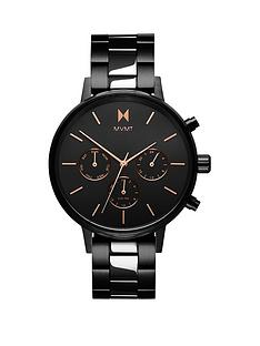 mvmt-nova-cruxnbspblack-and-rose-gold-detail-chronograph-dial-black-ip-stainless-steel-bracelet-ladies-watch