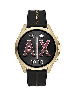 armani-exchange-armani-exchange-gold-full-display-dial-black-silicone-strap-smart-watch