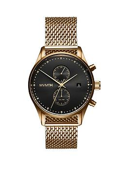MVMT Mvmt Mvmt Voyager Black And Gold Detail Chronograph Dial Gold Ip  ... Picture