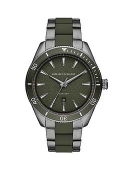Armani Exchange Armani Exchange Armani Exchange Gunmetal And White Detail  ... Picture