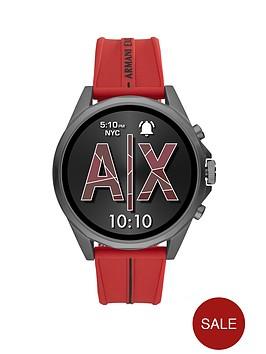armani-exchange-armani-exchange-gunmetal-full-display-dial-brown-silicone-strap-smart-watch