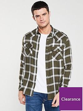 diesel-s-east-long-xa-check-shirt-khaki