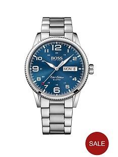 boss-boss-blue-sunray-date-dial-stainless-steel-bracelet-mens-watch