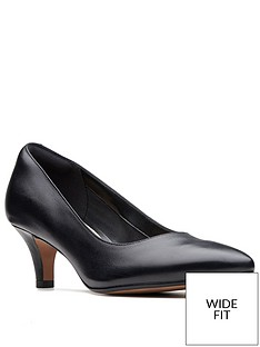 clarks-linvale-jerica-wide-fit-mid-heel-court-shoes-black
