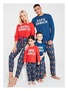 the-grinch-girls-mini-grinch-family-christmas-pyjamas-red