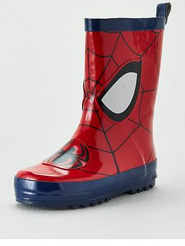Spiderman Spiderman Toddler Boys Wellie - Red Blue Picture