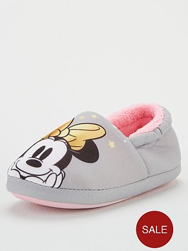 minnie-mouse-girls-slippers-grey