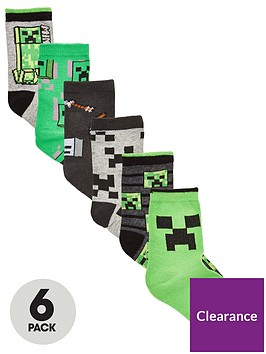 minecraft-boys-6-pack-socks-multi