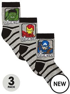 marvel-avengers-boys-3-pack-socks-greyblack