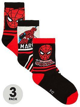 Spiderman Spiderman Boys 3 Pack Socks - Multi Picture