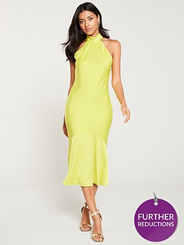 river-island-river-island-halterneck-deep-frill-dress--yellow