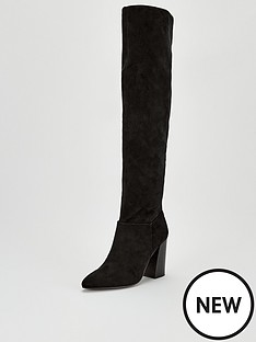 v-by-very-leona-point-flare-block-heel-over-the-knee-boots-black