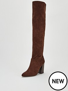 v-by-very-leona-point-flare-block-heel-over-the-knee-boots-brown