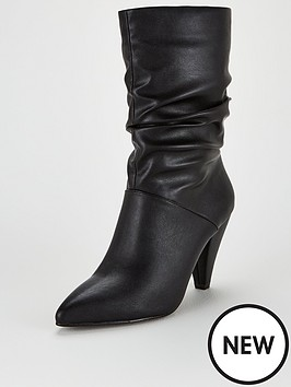 v-by-very-rapid-cone-heel-slouch-calf-boots-black
