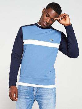 lacoste-sportswear-lacoste-contrast-sleeve-sweatshirt-marine-bluewhite