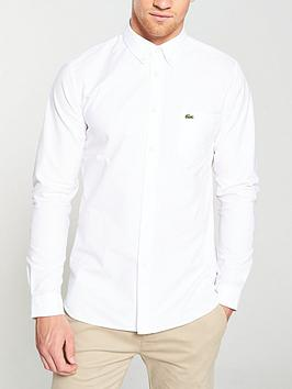 Lacoste Sportswear Lacoste Sportswear Long Sleeved Oxford Shirt - White Picture