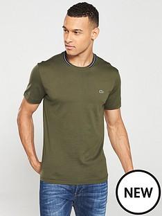 lacoste-sportswear-tipped-crew-t-shirt-khaki
