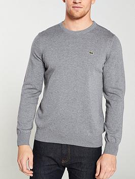 Lacoste Sportswear Lacoste Sportswear Crew Knit Jumper - Grey Picture
