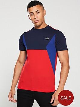 lacoste-sport-colour-block-t-shirt-red