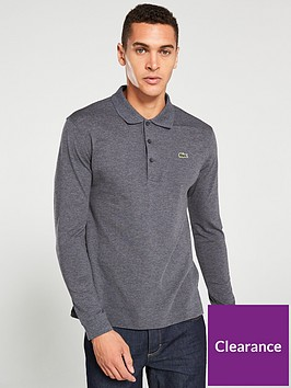 lacoste-classic-long-sleeved-polo-shirt-charcoal
