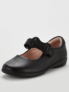 Lelli Kelly Lelli Kelly Colourissima Bow Dolly School Shoes - Black Leather Picture