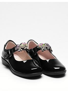 Lelli Kelly Lelli Kelly Girls Blossom Unicorn School Shoes - Black Patent Picture