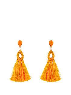 kate-wright-neon-tasselnbspearrings-orange