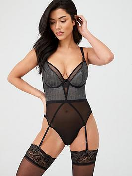 Curvy Kate Curvy Kate Sparks Fly Plunge Body - Black Picture