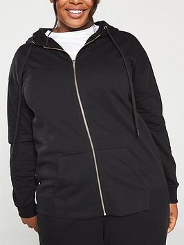 V by Very Curve V By Very Curve Zip Through Hoodie - Black Picture