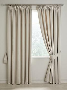 Very Berlin Blackout Pleated Curtains Picture