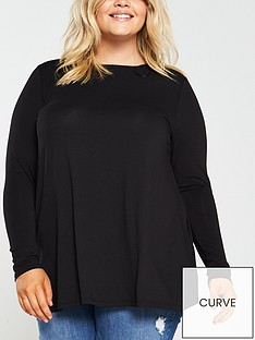 v-by-very-curve-jersey-long-sleeve-swing-top-black