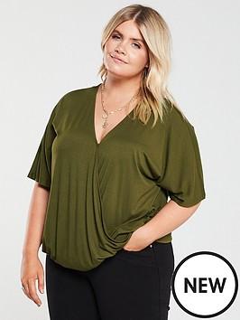 v-by-very-curve-jersey-wrap-top-khaki