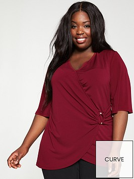 v-by-very-curve-jersey-wrap-ring-tunic-red