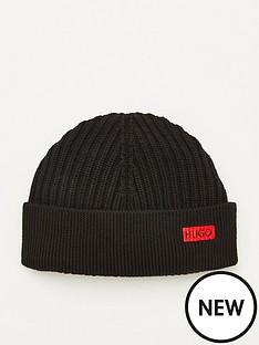 hugo-xianno-2-ribbed-beanie-hat