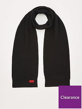 hugo-zappon-2-ribbed-scarf-black