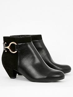 evans-evans-wide-fit-aquarius-ring-detail-heeled-ankle-boot