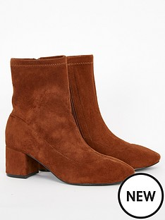 evans-extra-wide-fit-block-heel-boot-tan