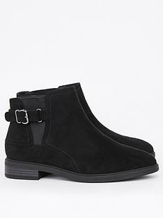 evans-extra-wide-fit-buckle-ankle-boots-black