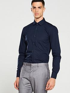 hugo-koey-long-sleeved-shirt-navy