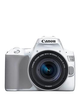 Canon   Eos 250D Slr Camera White 18-55Mm Is Stm Lens 24.1Mp 3.0Lcd 4K Fhd Wifi