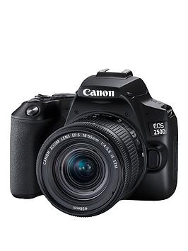 Canon   Eos 250D Slr Camera - 24.1Mp, 3 Inch Lcd Display, 4K Fhd, Wifi, Black - Eos 250D Camera Body Only