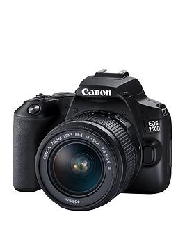 canon-eos-250d-slr-camera-18-55mm-dc-iii-lens-241mp-3-inchnbsplcdnbspdisplay-4k-fhd-wifi-black