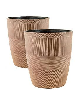 pair-of-sand-thatched-planters-10inch-caramel