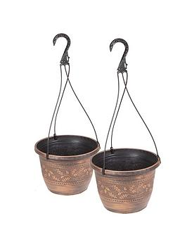 Very Pair Of Acorn Hanging Baskets 10Inch Picture