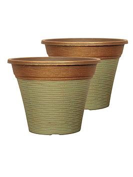 Very Pair Of Isabella Planters 12 Inch Patina Fusion Picture