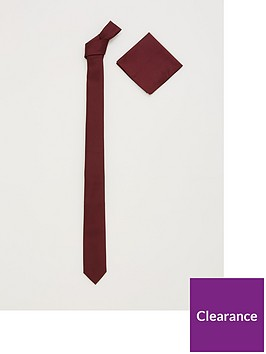 v-by-very-slim-tie-amp-pocket-square-set-burgundy
