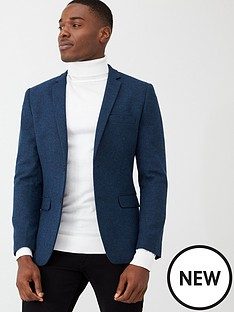 v-by-very-smart-herringbone-blazer-blue