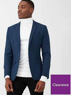 very-man-smart-herringbone-blazer-blue