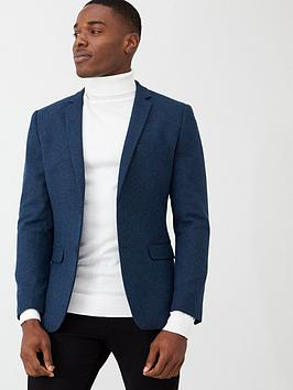 V by Very V By Very Smart Herringbone Blazer - Blue Picture